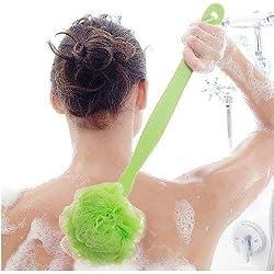 Veewon Badebürsten Zurück Scrubber Dusche Körperbürsten mit einem langen Griff (Grün)