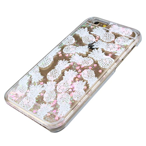 iPhone 5C Hülle,iPhone 5C Case,iPhone 5C Cove,3D Kreativ Muster Transparent Hard Case Cover Hülle Etui für iPhone 5C,EMAXELERS Cute Tier Cat Kaninchen Serie Bling Luxus Shiny Glitzer Treibsand Liquid  Heart Series 17
