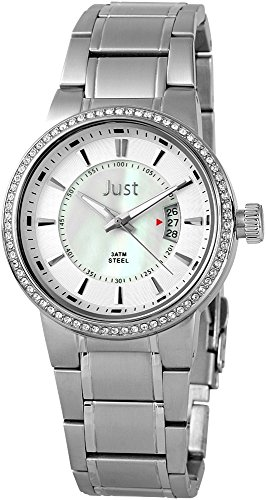 Just Watches 48-S8265B-PL - Orologio da polso donna, pelle, colore: argento