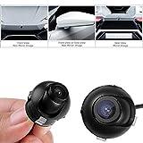 Mbuynow Mini CCD HD Retrocamera Auto 360° Ruotabile IP68 Impermeabile Angolazione di 170° Telecamera Retromarcia Auto con Visione Notturna