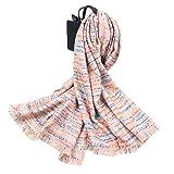 WUJIEXIAN-JXL Frau Rainbow Color Beard Schal Herbst und Winter Wilde Art Long Section Warmer Schal Duple Schal (Color : 03, Size : 200 * 70cm)