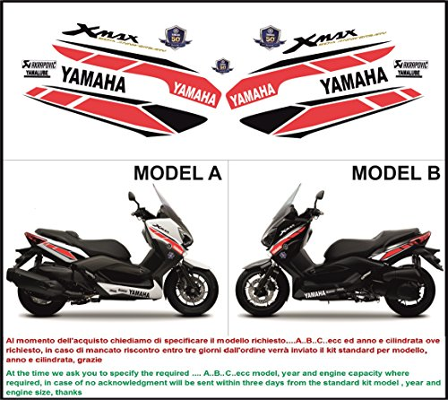 Emanuel & Co Kit adesivi decal stikers YAMAHA XMAX 125 250 400 50 ANNIVERSARY 2014 (Geben Sie MODEL A oder B)