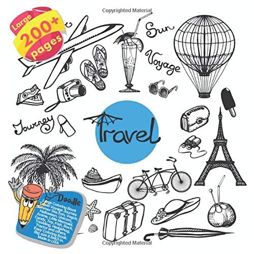Large Coloring Book Travel Voyage Journey Summer Sea Sun, Vogue, Halloween, Unicorn, Anime, Little Mermaid, Candy, Toy, Fish, Rock, Traveling, ... Summer Sea Sun and others Doodle, Band 1)