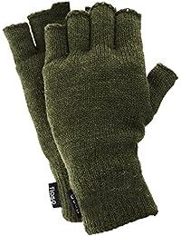 FLOSO® Mens Thinsulate Thermal Fingerless Gloves (3M 40g)