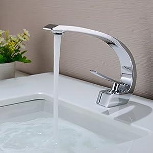 BONADE Grifo de Lavabo Grifo Baño Diseño Moderno Alta Calidad Monomando Lavabo Grifo de Cuenca Griferia Lavabo y Baño…