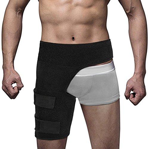 épi (maritime) prise en charge et Hip Flexor Wrap Compression de cuisse Aduustable de ceinture pour homme femme, Nerf sciatique Soulagement de la douleur musculaire douleurs restauration manches