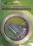 Practicool 1.6mm x 30m Galvanised Coated Garden Wire, Bonus 10 Vine Eye Screws