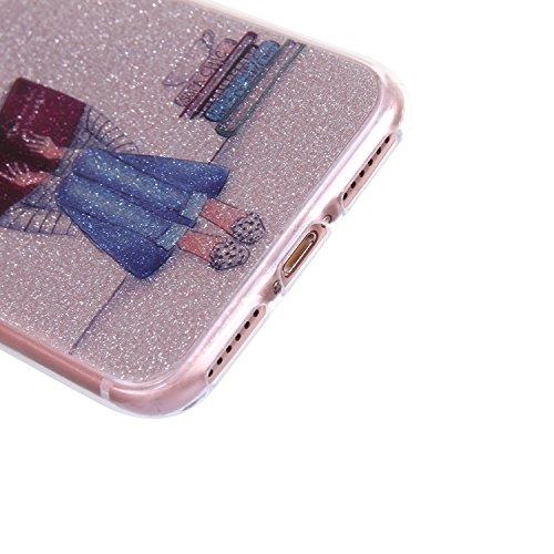 iphone 7 plus Hülle,iphone 7 plus TPU Glitzer-Hülle – Cozy Hut iphone 7 plus Schutzhülle Case Silikon- Bling Shining Crystal Ultra Dünn Durchsichtige Backcover Handyhülle Schutzhülle für iphone 7 plus Comic-Buch
