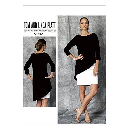 Vogue American Designer-muster (Vogue Patterns Nähvorlagen, Schnittmuster, 1470E5,Größen 14-22, für Kleider, Mehrfarbig)