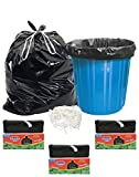 #10: Sahil Pack of 3 Black Biodegradable 20 Ltrs Tie String Garbage Bags - 90 pcs