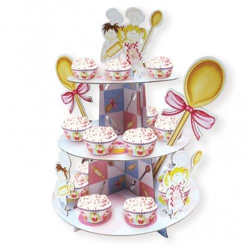 Amscan 35x 30cm Little Cooks Cupcake-Ständer