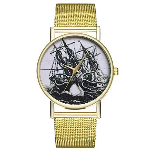 IG Invictus Vintage Ladies Round Mesh Strap Watch Quartz Fashion Watch Quarzmaschengürtel Modeuhr T61 W MIT Mode, Uhren, Quarz -