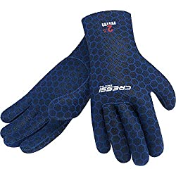 Cressi High Stretch Gloves Gants pour Plongée Adulte Unisexe, Bleu (2.5 mm), L