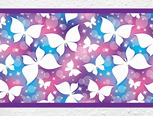I-love-Wandtattoo b-10022 Kinderzimmer Bordüre 'Schmetterlinge' Wanddekoration Kinder