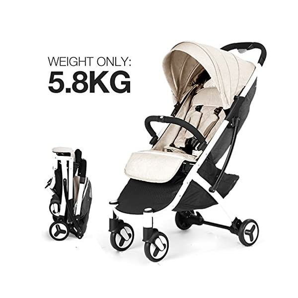 Allis Travel Pushchair Buggy Lightweight Stroller Plume - Beige  High Quality, made according to British Standard EN1888, Fabrick OKo-Tex standard 100 and Fire Safety Regulations 1988. Suitable from 6M ( upto 15Kg Approx) Lightweight 5.8Kg, Travel size and easy to fold with one hand only 1
