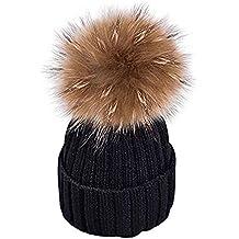 e29184bbae8 MMTX Femmes Côtes dhiver Tricot Chapeaux Hedging Casquette Bonnet Chaud en  Plein Air De Mode Chapeau