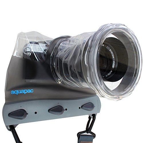 AquaPac wasserdichte-tauchbare Tasche Für System Kamera, Grau-Transparent, 12 x 15.5 x 16 cm -