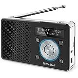 TechniSat DIGITRADIO 1 / Digital-Radio Made in Germany (klein, tragbar, für Outdoor geeignet) mit Lautsprecher, OLED-Display, DAB+, UKW, Favoritenspeicher und leistungsstarkem Akku - schwarz/silber