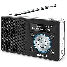TechniSat DIGITRADIO 1 / Digital-Radio Made in Germany (klein, tragbar, für Outdoor geeignet) mit Lautsprecher, OLED-Display, DAB+, UKW, Favoritenspeicher und leistungsstarkem Akku, schwarz/silber