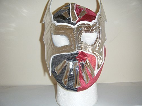 rot Sin Cara WWE Wrestling Maske Kostüm geschnürt Kostüm Outft Mexikanisch Rollenspiel für Kinder Kinder Jungen Mädchen Cosplay Superheld Wrestler (Erwachsene Sin Für Kostüm Cara)
