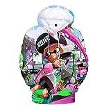 Splatoon Pullover Eltern-Kind-Hipster 3D Impressum Pullover for Unisex Mann tragen und Frauen Jungen und Mädchen Unisex (Color : A08, Size : 170)