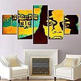 ZEMER The Notorious B.I.G. Leinwanddrucke Gemälde 5 Stücke Wandkunst Hd Drucken Abstrakte Moderne Kunstwerk Poster Für Wohnzimmer Decor Geschenk,A,40x60x2+40x80x2+40x100x1