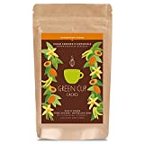 Green Cup Coffee Super Food Bio Cacao Kakaopulver - 100 Prozent vegan, lactosefrei, glutenfrei - ohne zugesetzten Zucker, sondern natürlich süß - 56% reiner Roh Kakao Pulver - 150g Beutel