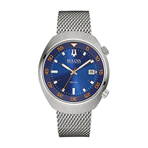 bulova-accutron-ii-mens-quartz-watch-with-blue-dial-analogue-display-and-silver-stainless-steel-brac