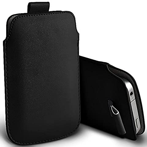 ( Black ) Alcatel ONETOUCH 10.16 Case Premium Stylish Faux Leather Pull Tab Pouch Skin Case Cover Various Colours To Choose From by i-Tronixs
