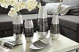 1 x Schale Picos Keramik schwarz-silber Breite 30 cm, f. Snacks, Tischdeko, Edelschale