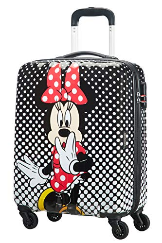 American tourister disney legends spinner bagaglio a mano, s (55 cm - 36 l), multicolore (minnie mouse polka dot)