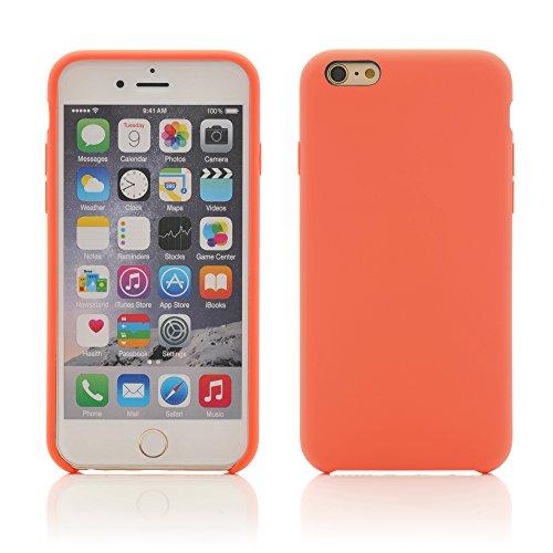iProtect TPU Schutzhülle Apple iPhone 6, 6s Soft Case in matt Rosa Lachs Orange