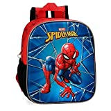 Marvel Mochila Guardería Frontal 3D Spiderman Black, Multicolor, 25 cm