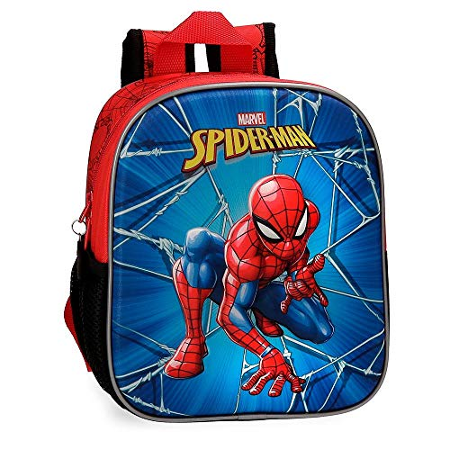 Marvel Spiderman Black Kinder-Rucksack 25 centimeters 5.25 Mehrfarbig (Multicolor)