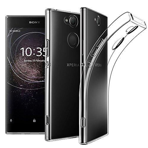 EasyAcc Sony Xperia XA2 Hülle Case, Dünn Crystal Clear Transparent Tasche Handyhülle Cover Soft Premium-TPU Durchsichtige Schutzhülle Backcover Slimcase für Sony Xperia XA2