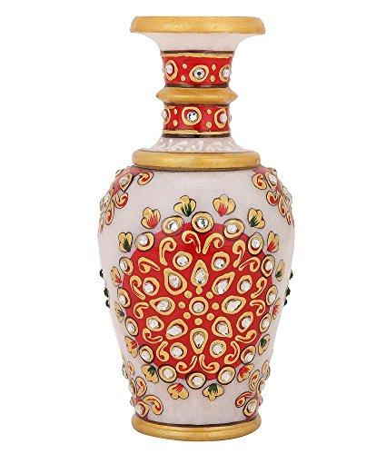 purpledip Kleine Vase, Marmor, Blumentopf für Home Dekoration, 15,2cm indischen Geschenk Ideen (10690)