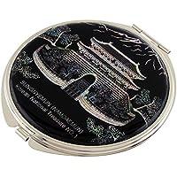 Madreperla Namdaemun Design compatto, doppia lente d'ingrandimento tascabile trucco Bellezza-Specchio da borsetta