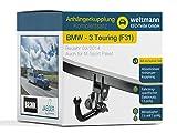 Weltmann 7D020038 BMW 3er Touring (F31) - Abnehmbare Anhängerkupplung inkl. fahrzeugspezifischem 13-poligen Elektrosatz
