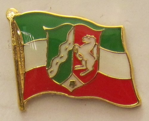Pin Anstecker Flagge Fahne Nordrhein Westfalen NRW Landesflagge Flaggenpin Badge Button Flaggen Clip Anstecknadel