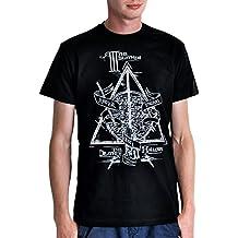 Harry Potter Los Tres Hermanos camiseta Peverell de cuento algodón negro - M