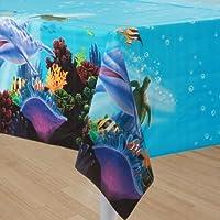 1 Tischdecke * OCEAN PARTY * für Kindergeburtstag und Mottoparty // Kinder Geburtstag Party Plastic Table Cover Ozean Meer Korallenriff Clownfisch Schildkröte Delfin