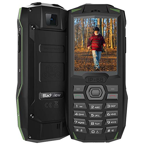 Blackview BV1000 Mobiltelefon Dual SIM, IP68 Wasserdicht Outdoor Handy, 3000mAH Großer Akku, 2,4 Zoll Farbdisplay Seniorenhandy Ohne Vertrag, 0.3MP Kamera, FM-Radio, Taschenlampe,6 Sprache (Grün)
