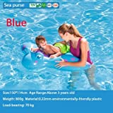 Un Branded NewBaby Swimming Ring Shark Seat Inflatable Flamingo Swan Pool Float Baby Summer Water Fun Pool Toy Kids Swimming Pool Accessories Blue See Purse