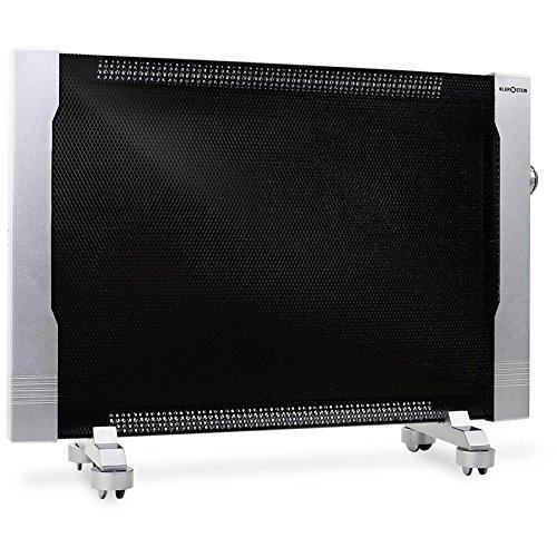Klarstein Wärmewellen-Heizgerät Heizung Lautlos hohe Effizienz 2000W ( stufenlos regelbar, Raumgröße bis 70 m³, Thermostat) vollmobil HT002MC