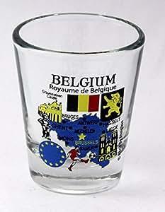 Belgium EU Series Landmarks and Icons Shot Glass by World By Shotglass
