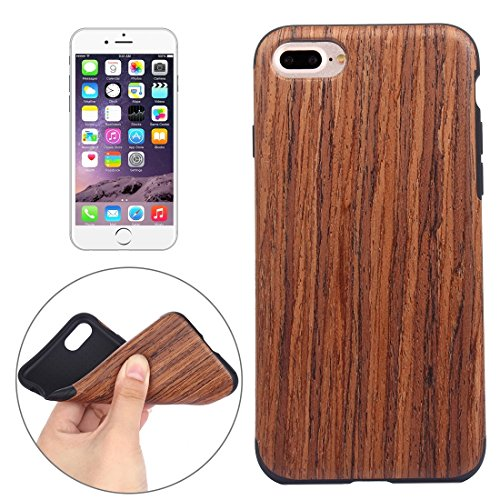 BING Für iPhone 7 Plus Teak Holz Korn Paste Haut Soft TPU Schutzhülle BING ( SKU : IP7P8000D ) IP7P8000B