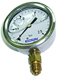 Fluidra 04215 - Manómetro 0-10 kg/cm2 glicerina INOX
