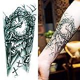 GREEN HOME 1 1 STÜCK Temporäre Tattoos Uhr Wasserdichte Arm Großhandel Simulation Umwelt Fashion Tattoo Aufkleber Körper Kunst Aufkleber für Mann 7,5 * 4,8 zoll (Mehrfarbig)