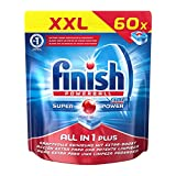 Finish All in 1 Plus, Spülmaschinentabs, XXL Pack, 60 Tabs