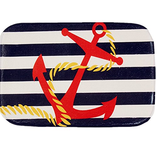 O-C Anchor flag Outdoor Indoor Antiskid Absorbent Bedroom Livingroom Bath Mat Bathroom Shower Rugs Doormats